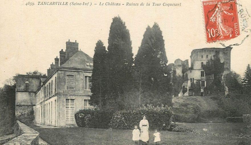 Tancarville Le Chateau ruines de la tour Coquesart