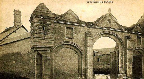 vintage postcard old chateau at Ryes, Calvados