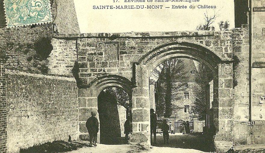 sainte-marie-du-mont-entree-du-chateau