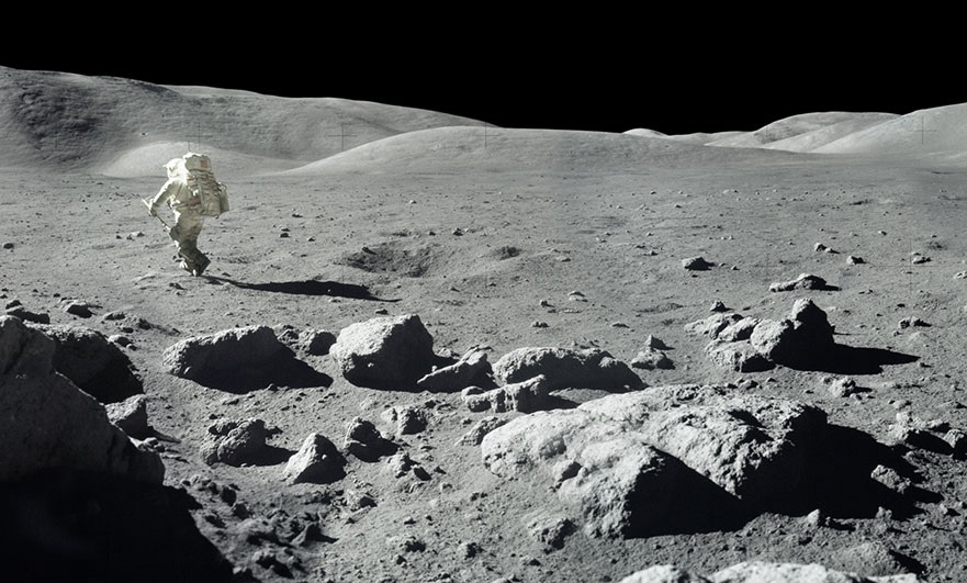 Photo of the moon's surface from Apollo 17