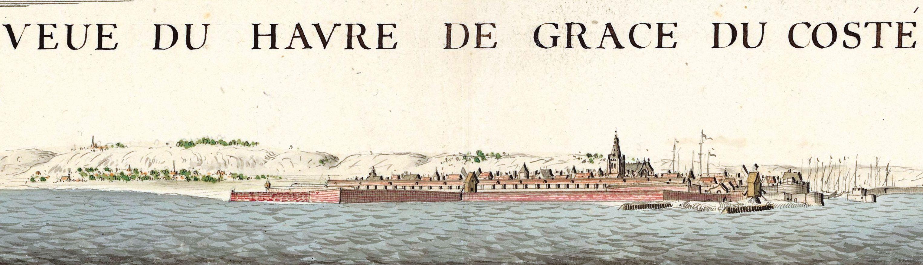 Vintage sketch of Havre