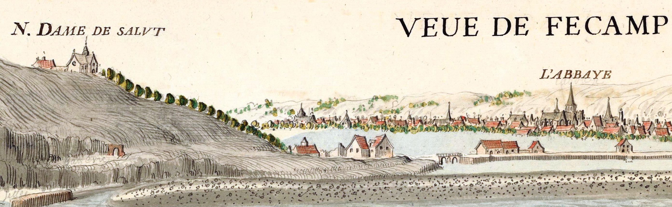 Vintage sketch of Fecamp