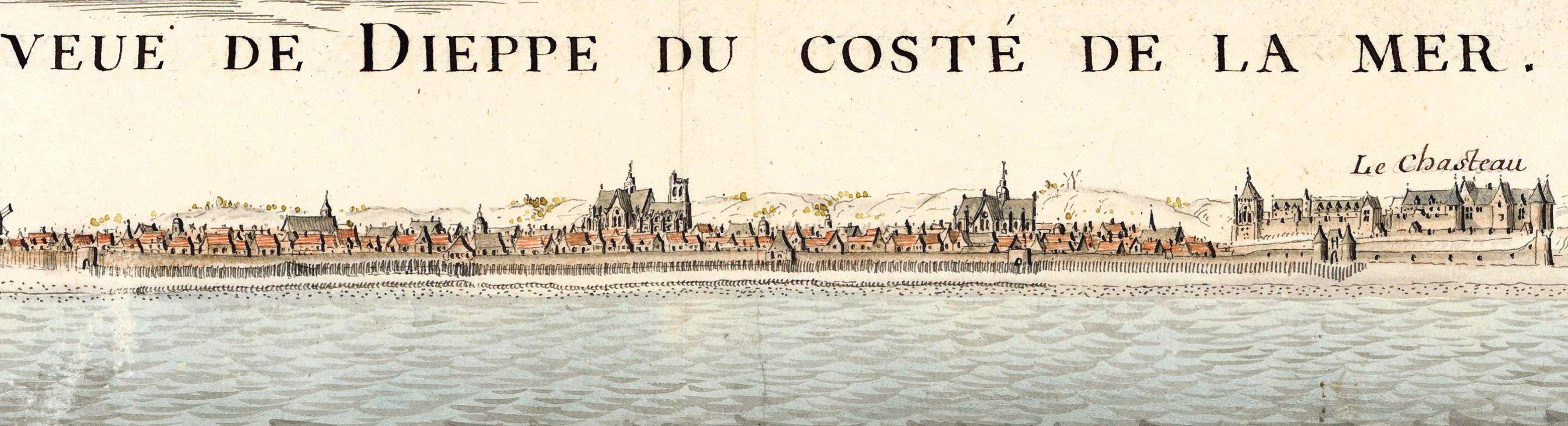 Vintage sketch of Dieppe