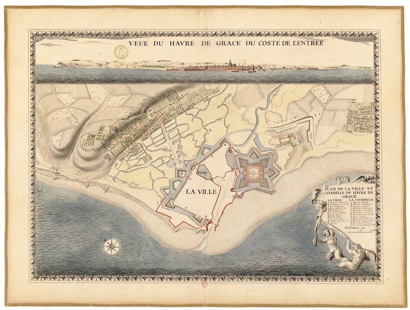 Vintage map of Havre