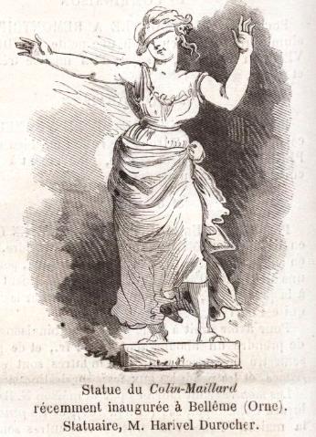 Statue of Colin Maillard in Le Monde illustré 19 December 1874