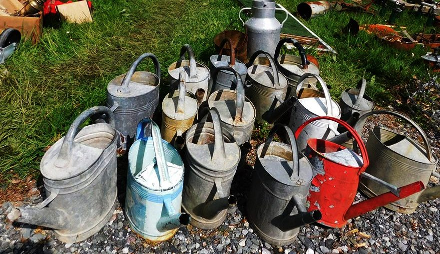 Watering cans at the Foire des Andaines in 2018