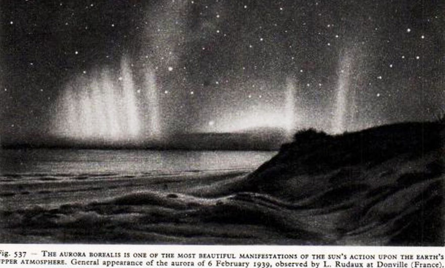 Aurora Borealis from Donville, Normandy in 1939