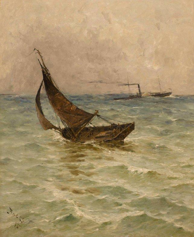 Barque de pêche à Trouville par Frank Boggs
