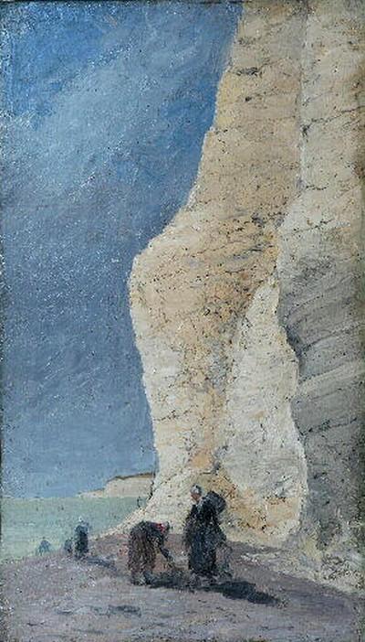 Femmes de pêcheurs au pied de la falaise
