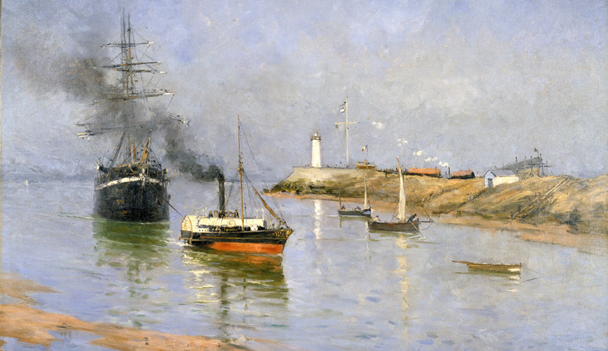 Frank Myers Boggs, The Harbour at Honfleur