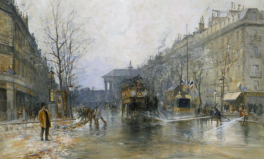 Paris street scene by Frank Myers-Boggs