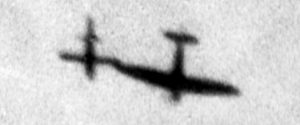 Spitfire tipping a V-1 flying bomb
