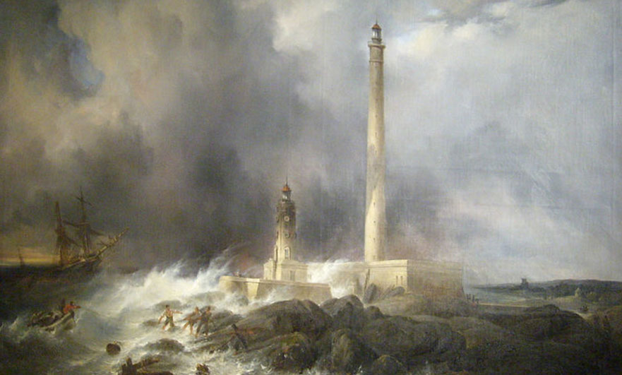 Vue du phare by Jean Pierre Petit c.1836