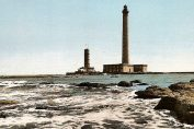 vintage postcard of the lighthouses at Gatteville in the Manche, Normandy