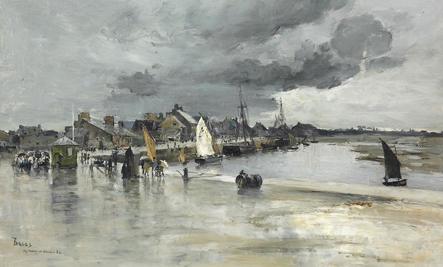 Harbour, St Vaast, Normandy by Frank Myers-Boggs