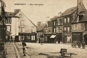 vintage postcard Place Saint Julien Domfront Normandy