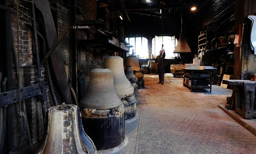 Bell moulds at the Cornille-Havard foundry in Villedieu-les-Poeles, Normandy