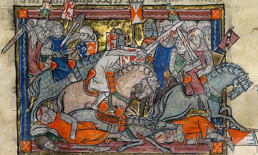Medieval battling, seemed such a good idea at the time...
