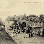 Vintage postcard of Saint-Aubin-de-Bonneval Normandy