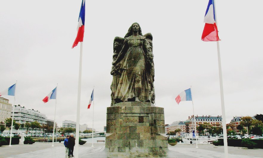 Memorial to those lost in WW1 from Le Havre by Pierre-Marie Poisson in 1922