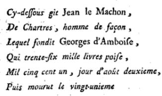 Dedication to Jean le Machon