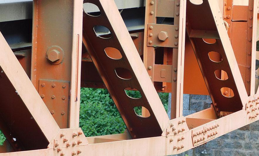 Restored whale bridge of Les Bordeaux
