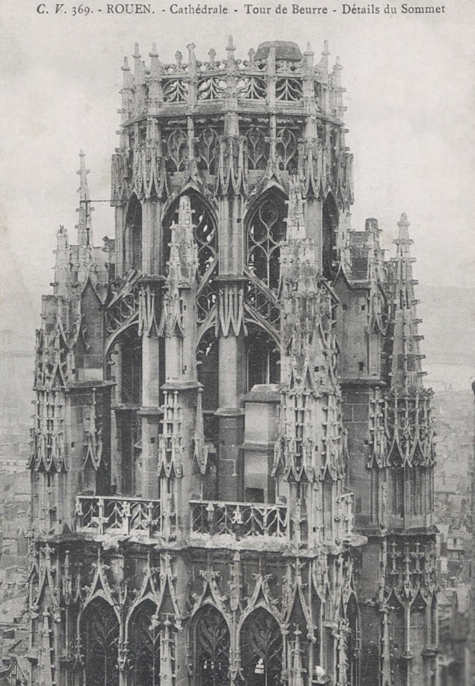The crown on the Tour de Beurre, Rouen cathedral