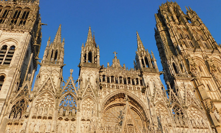 Rouen cathedral, early evening