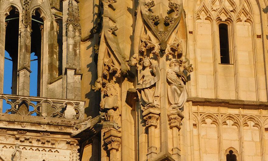 Statues on the Tour de Beurre, Rouen Cathedral