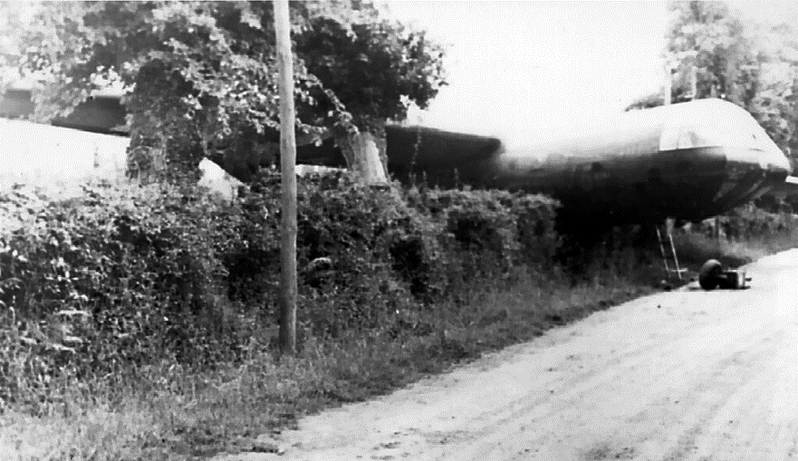 Crashed Horsa glider near Hiesville, 6 June 1944