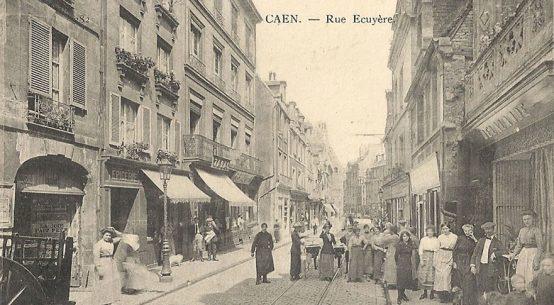 Rue Ecuyere Caen carte postale