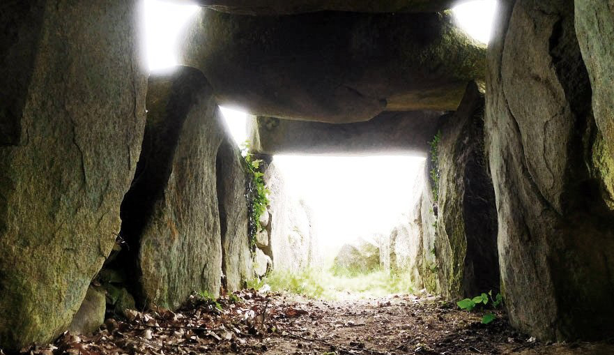 The long barrow is over one meter high inside