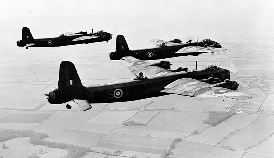 Photo three Stirling bombers