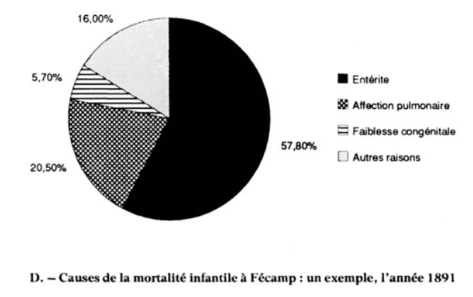 Causes of death in Fecamp; Enterite = enterites, the green diorhea