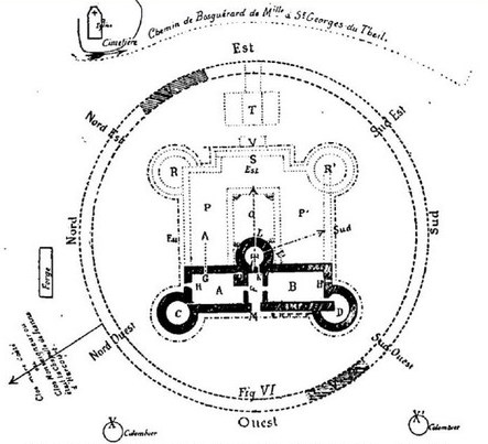 Plan of Chateau de Houlbec bu abbe C. heullant 1901