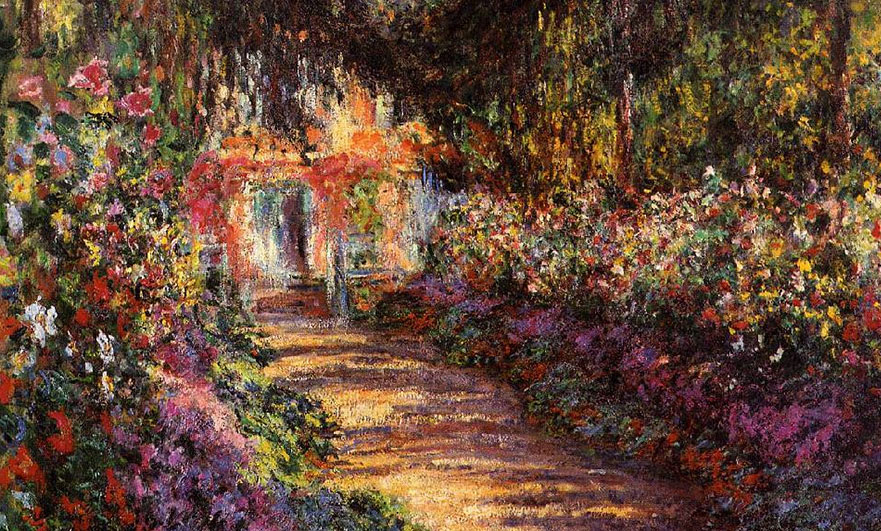La Grande Allée Giverny oil painting Monet