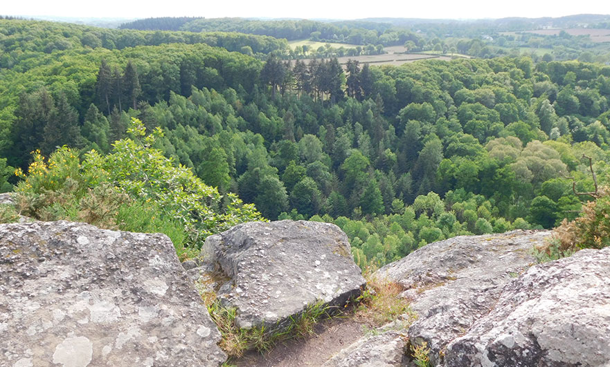Roche d'Oëtre view over the Orne bocage