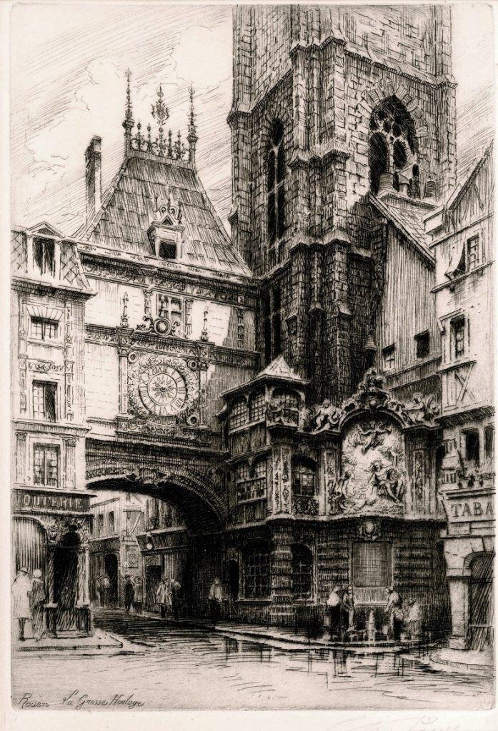 La Grosse Horloge, Rouen by Charles Pinet