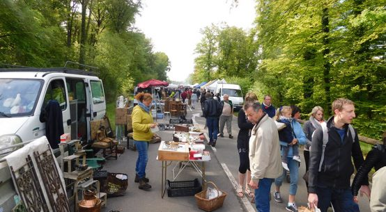 Les Andaines to Bagnoles spring brocante through the forest